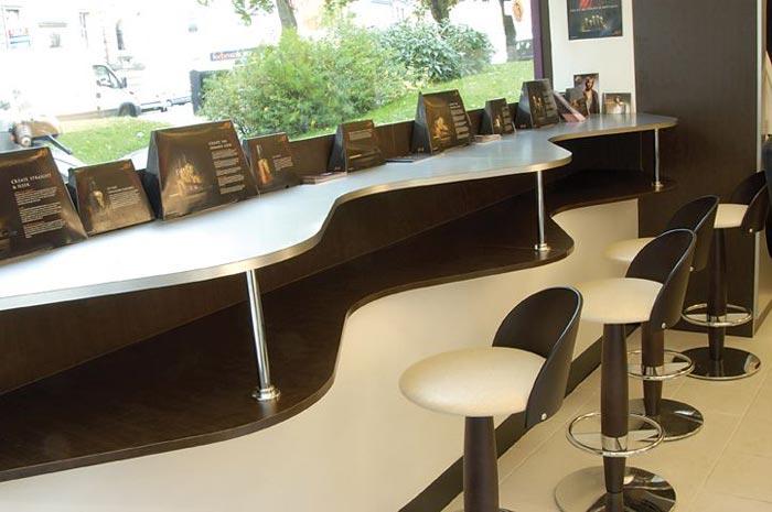 Hair dressers waiting area