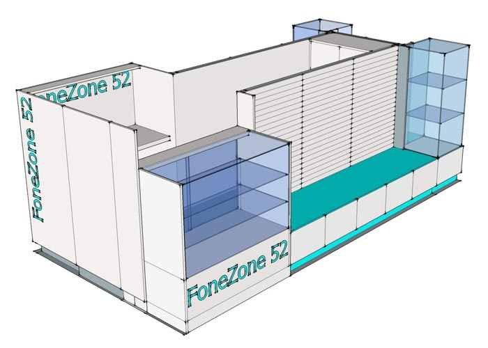 CAD concept for kiosk