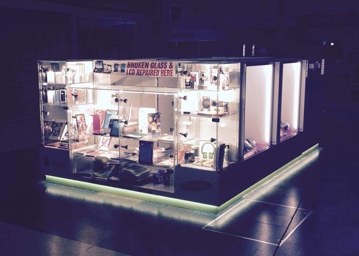 illuminated kiosk