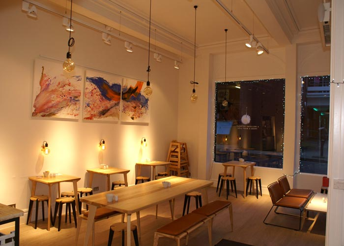 coffee shop seating area