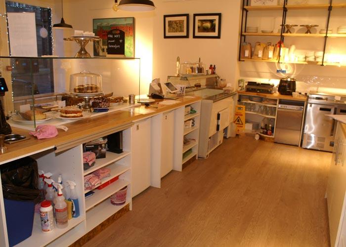 coffee shop kitchen area