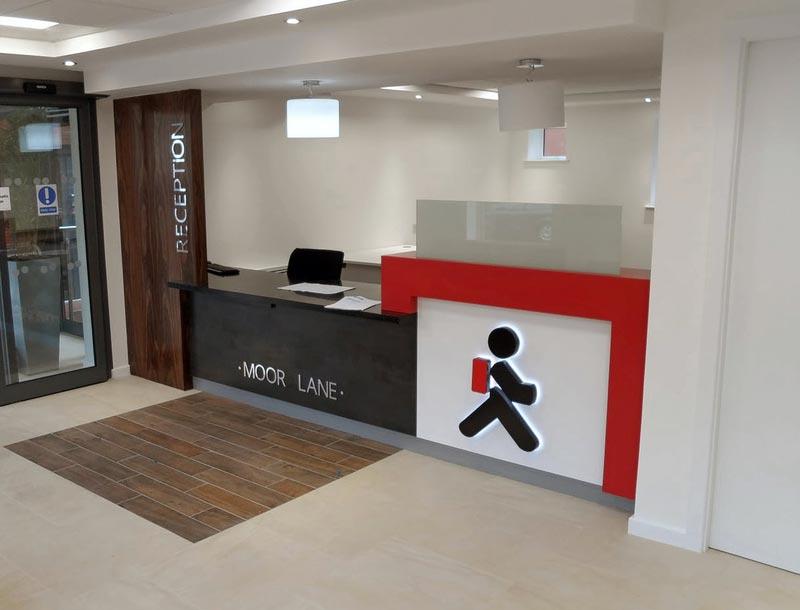 Moor Lane Entrance Reception