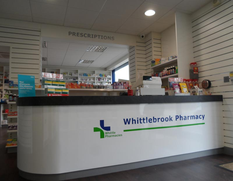 Whittlebrook pharmacy counter
