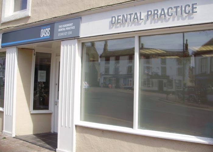 dentist window front