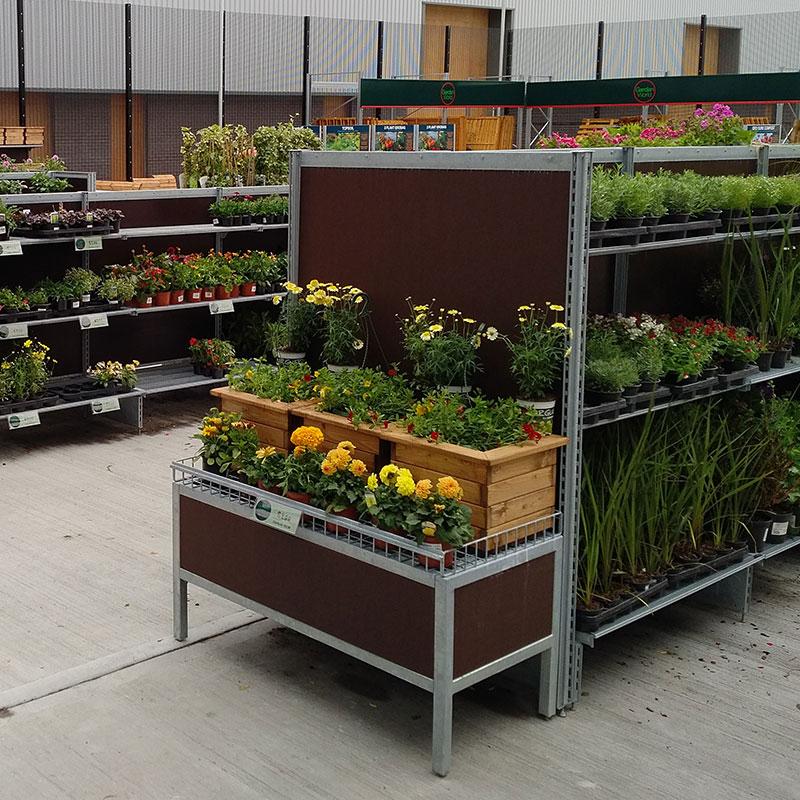 Plant racking for garden centres