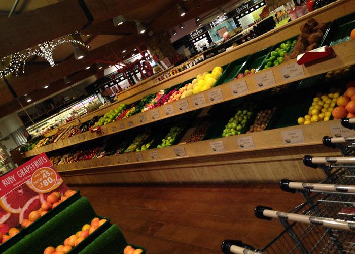fruit and veg display units