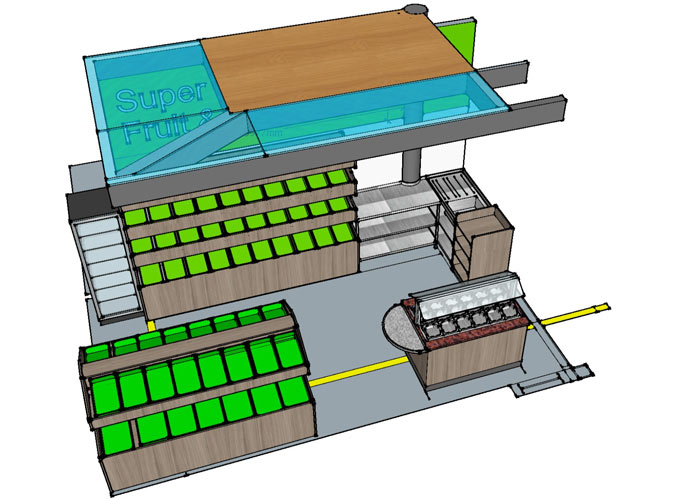 Cad layout for market stall