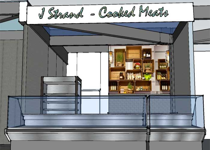 Concept for market stall