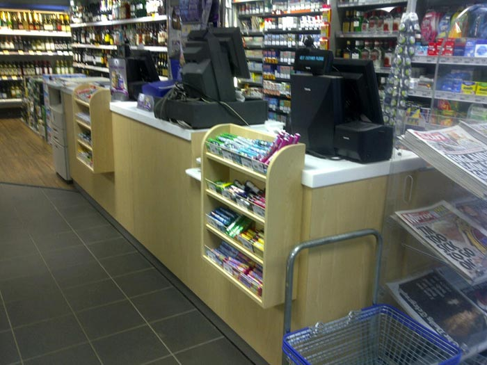 off licence counter