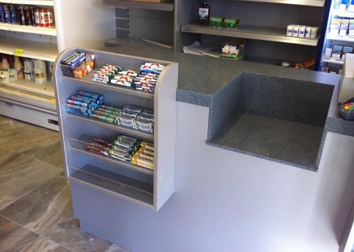 cash desk display unit