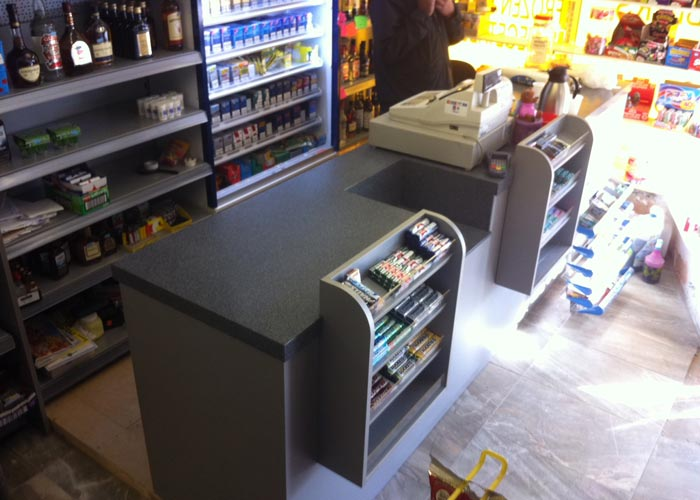 counter with display unit