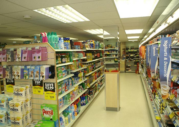 convienience store shelving