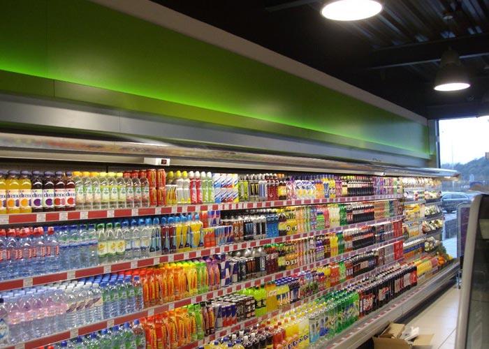 retail cooler shelving unit