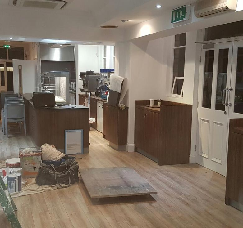 catering unit installation