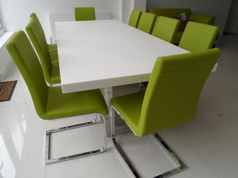 solid surfacing board room table