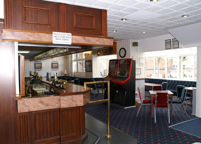 social club lounge area