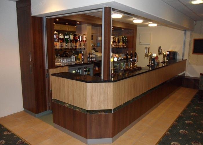 social club bar area