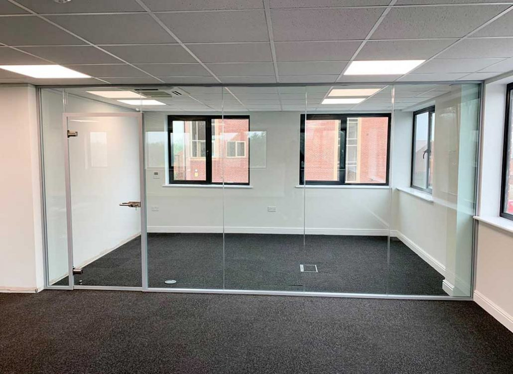 double glazed glass partition walls