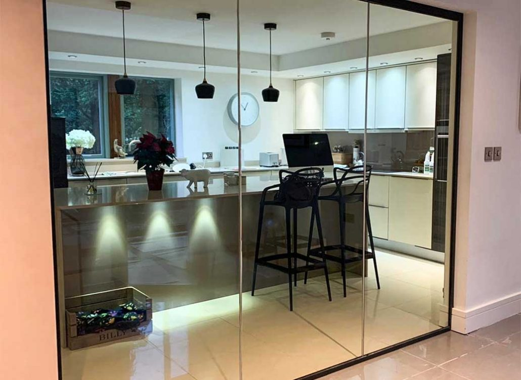 fire rated glass kitchen wall