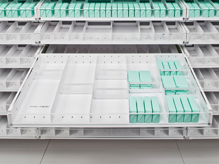 Racking systems for Pharmacy