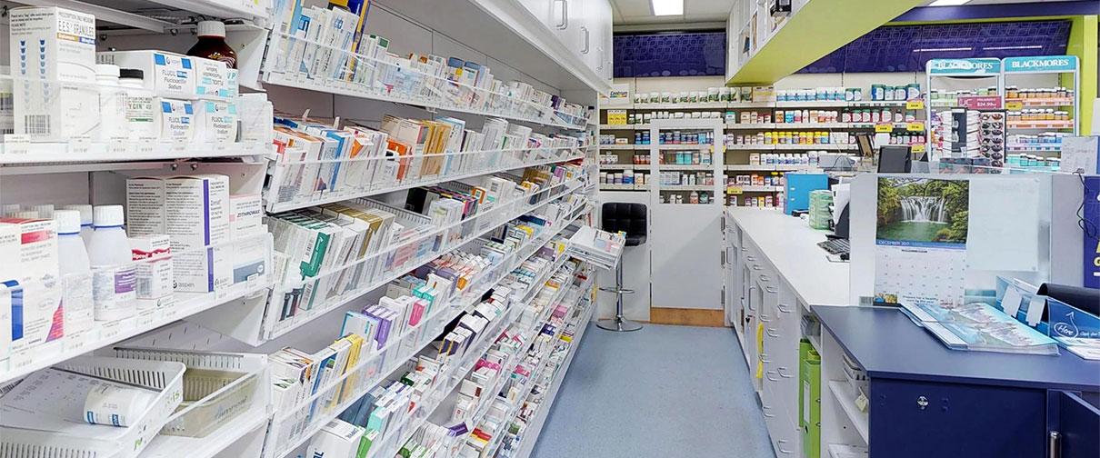 pharmacy racking system